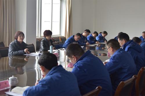 澳门银河娱乐场副总经理刘晓杨到川南发电宣讲十九大精神