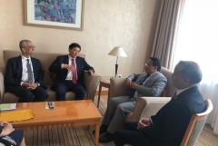 秒速时时彩集团党委书记、董事长刘国强出席尼泊尔水电投资论坛并与尼泊尔能源部部长普恩会谈