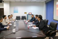 山钢股份公司营销总公司副总经理宋尊国一行到访川投峨铁公司