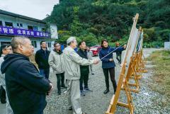 刘体斌董事长一行到田湾河公司检查指导工作